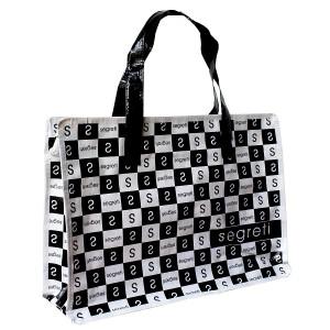 woven zipper bag/shopping bag/reusable bag SEGRETI